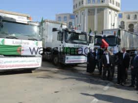 وزارة العمل: قافلة تضامنية محملة بـ 200 طنا من المساعدات لفائدة المتضررين من حرائق الغابات