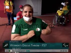 برالمبياد طوكيو-2020: ميدالية فضية للجزائرية نسيمة صايفي في رمي القرص (ف 56/ 57)