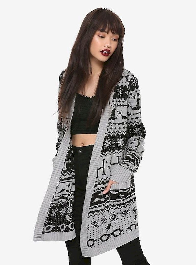 Cardigan harry potter with black and grey color