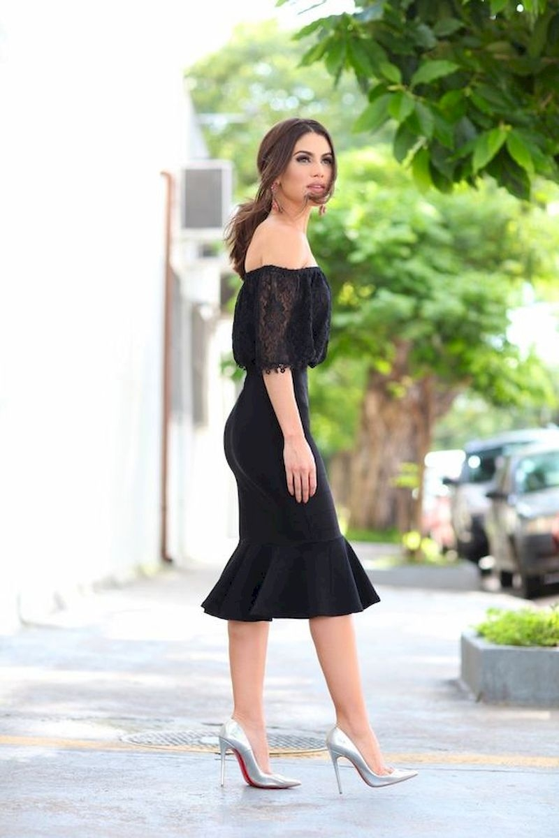 Casual spring outfits with black dress