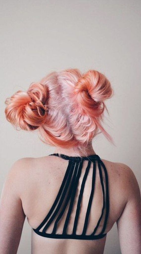Bright hairstyles with two rolls