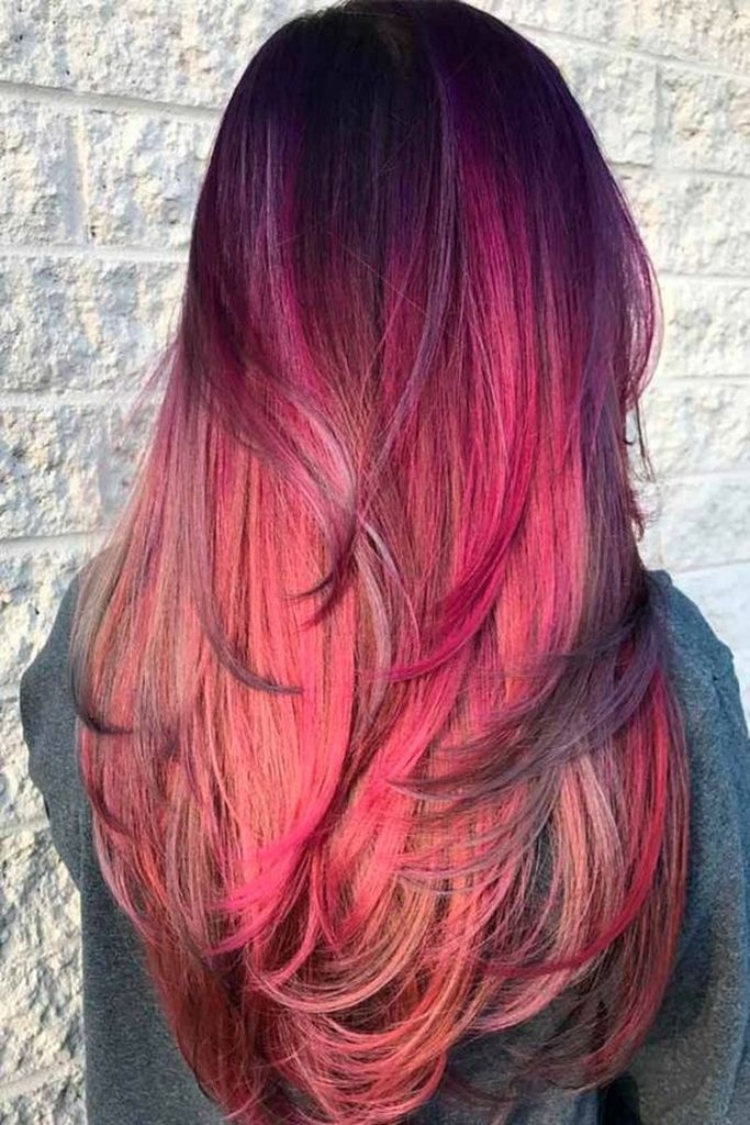 Spring hair for women with bright red hair