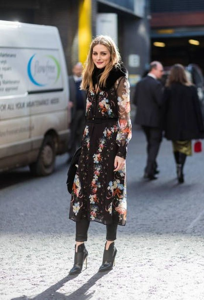 Black floral dresses with long pant