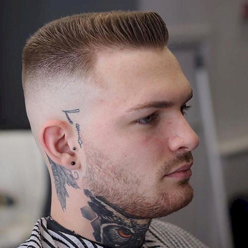 Haircuts for men with dapper flat top