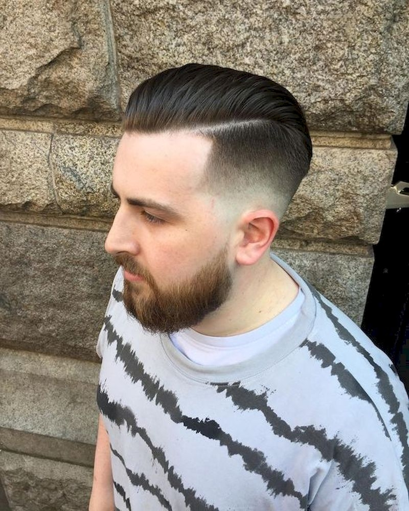 Haircuts for men with thick hair back combed