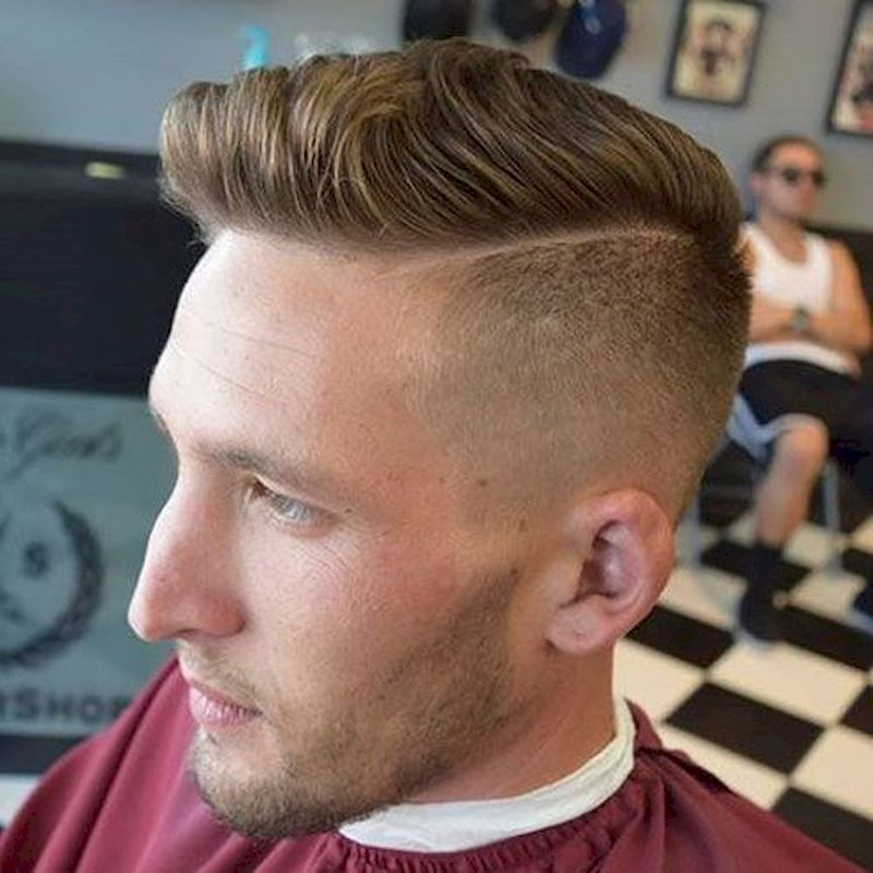 Haircuts for men with thin and striped sides