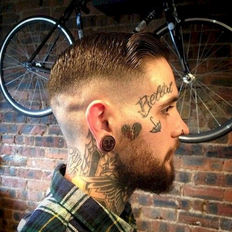 Haircuts for men with thin side hair and tattoos