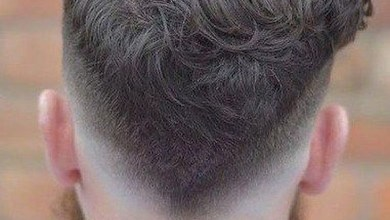 Haircuts for men with wavy fade side part