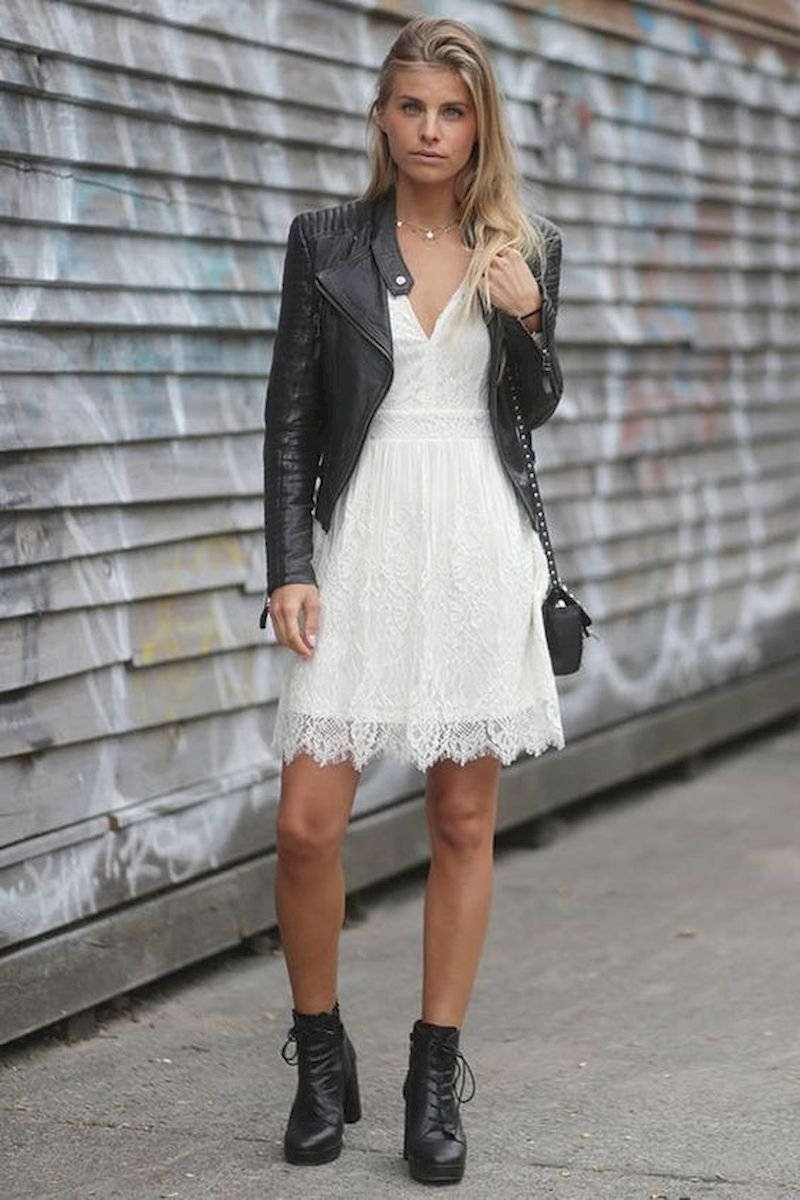 Women outfits with dress and ankle boots