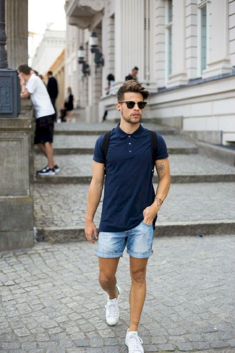 Outfit men with polo shirt and short pant