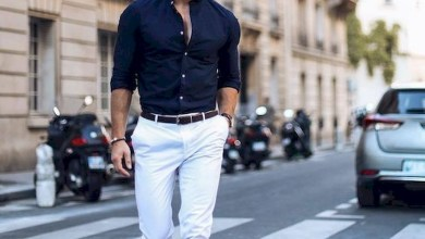 Outfit men with white pants