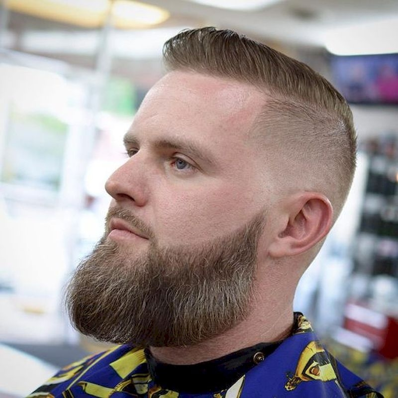 Long beard style with hair spiky top