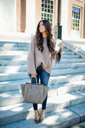 51 Fall Travel Outfit Ideas For You Who Always On The Go (32)