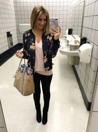 51 Fall Travel Outfit Ideas For You Who Always On The Go (44)