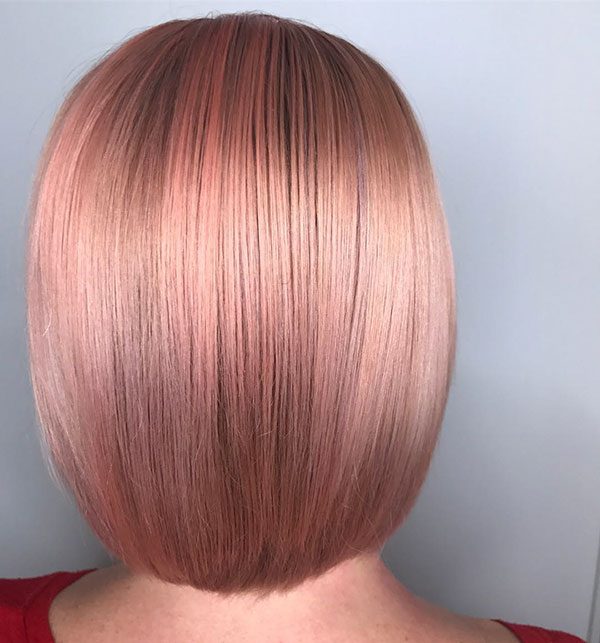 Short Rose Gold Hair