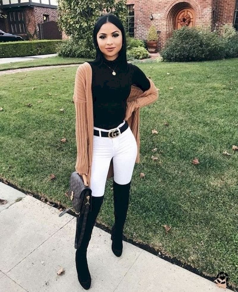 Spring outfit with white pant