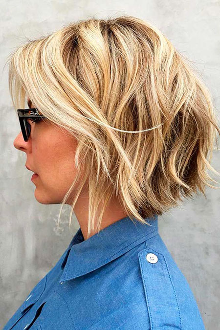 Short Hairtyle for Women, Short Blonde Bob Layered