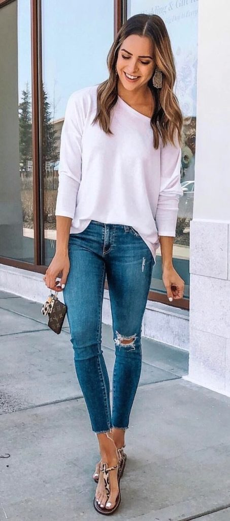 25+ Brilliant Summer Outfits To Copy ASAP - white long-sleeved shirt #summer #outfits #summeroutfits #summerfashion #summerstyle