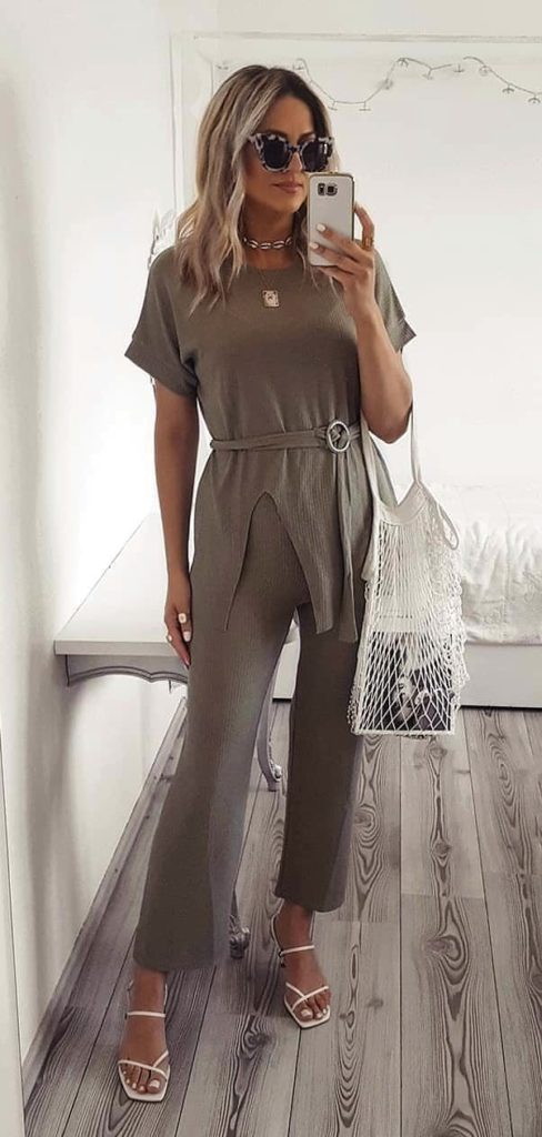 25+ Brilliant Summer Outfits To Copy ASAP - gray jumpsuit #summer #outfits #summeroutfits #summerfashion #summerstyle