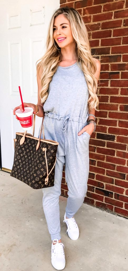 25+ Brilliant Summer Outfits To Copy ASAP - grey sleeveless jumpsuit #summer #outfits #summeroutfits #summerfashion #summerstyle