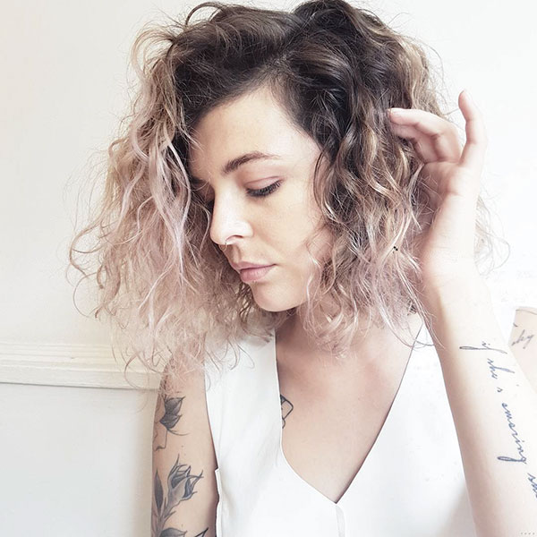 Short Curly Hair Color