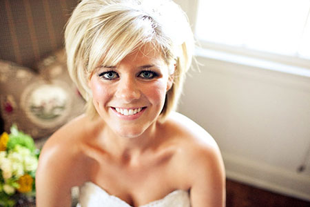 Bridal Simple Hair, Hair Short Wedding Helen