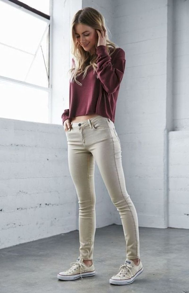 Spring outfit with skinny jeans
