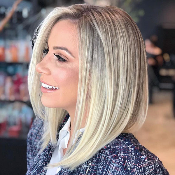 Short Straight Blonde Hair