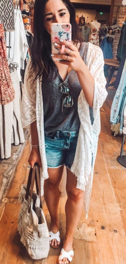 25+ Brilliant Summer Outfits To Copy ASAP - white cardigan #summer #outfits #summeroutfits #summerfashion #summerstyle