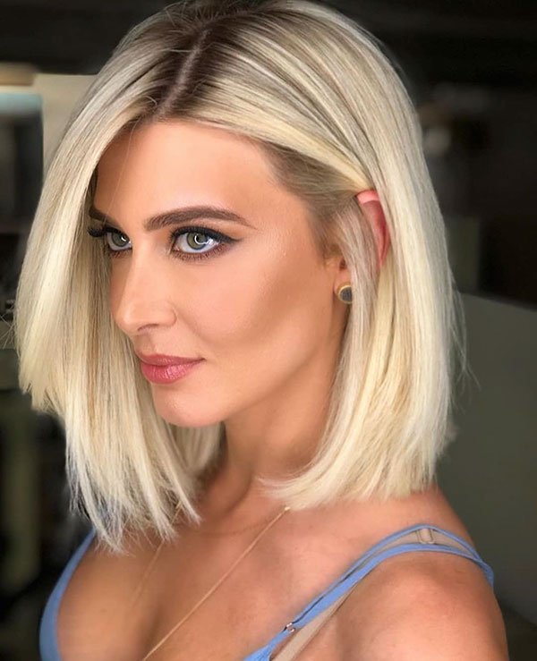 Platinum Blonde Short Hair