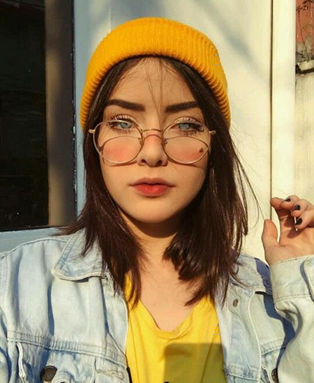 Girl Short Hair With Hat