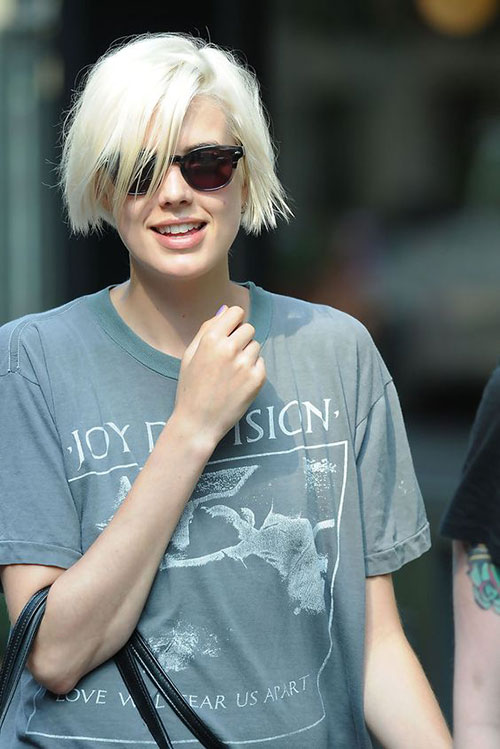 Short Blonde Bob with Fringe
