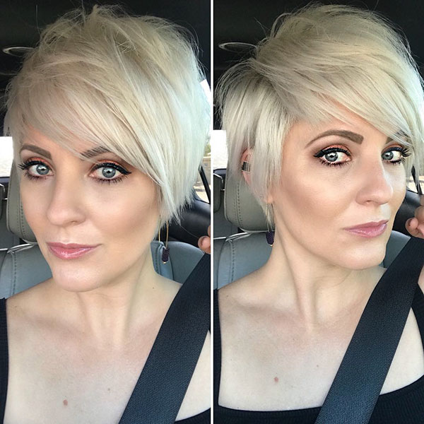 Short Blonde Hair With Bangs