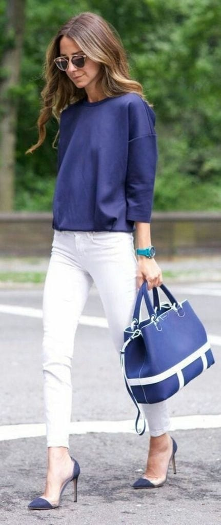 Summer outfit with white pant