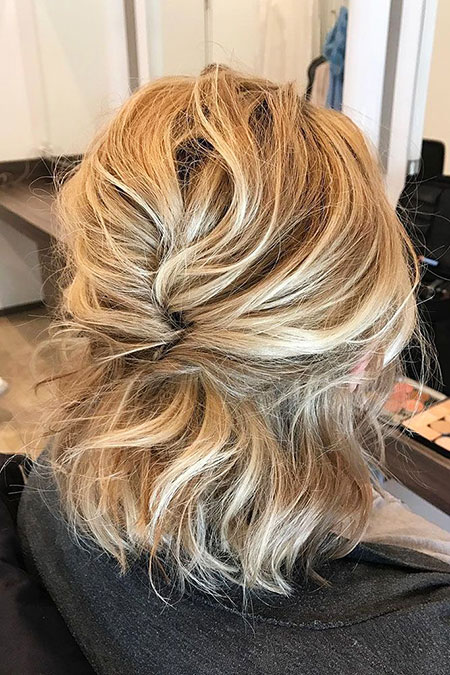 Hairtyles Messy Wedding Blonde