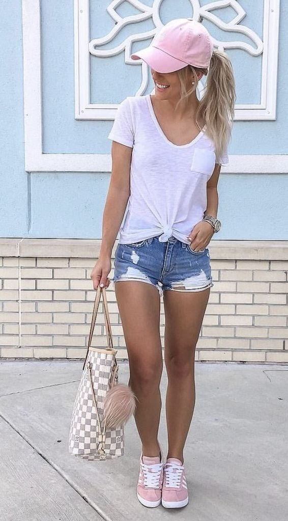 Summer outfit with white t-shirt