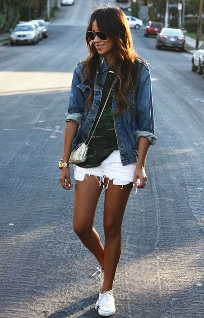 Summer outfit with jacket denim