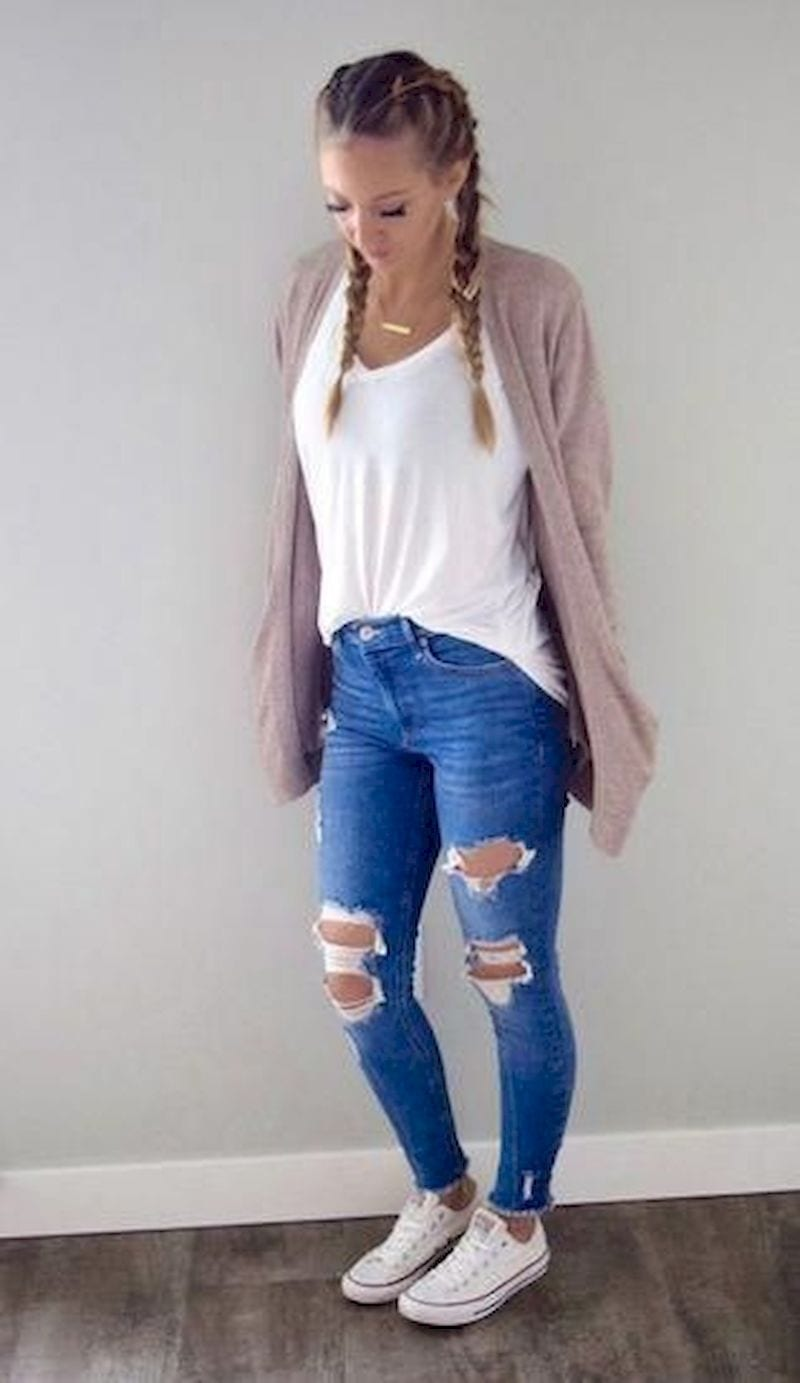 Spring outfit with cardigan