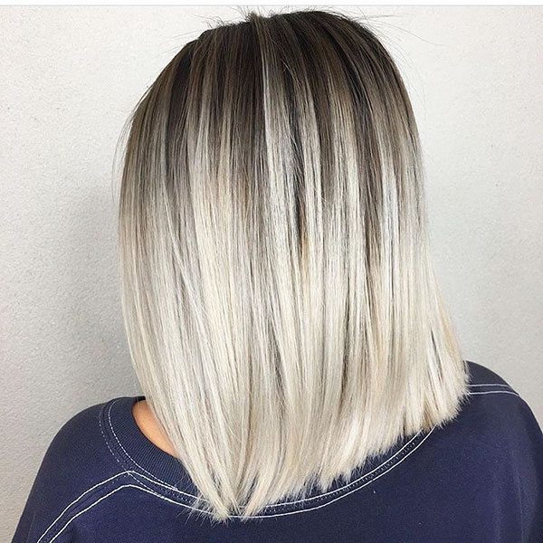 Dark Shadow Root Blonde Hair