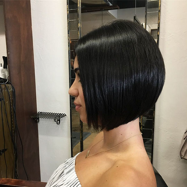 Inverted Bob Straight Hair