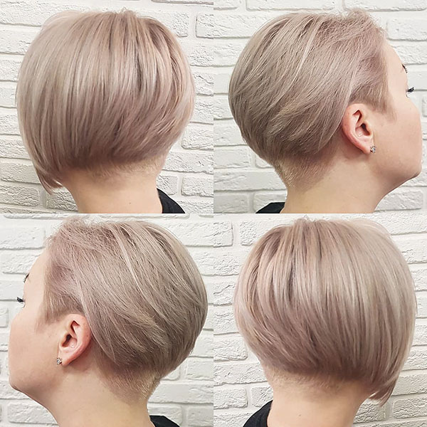 Honey Blonde Short Hair