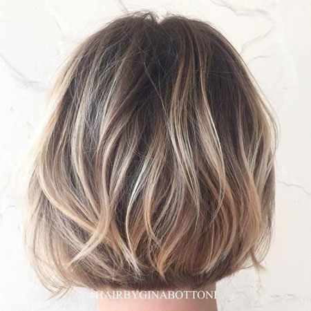 Balayage Bob Brown Blonde
