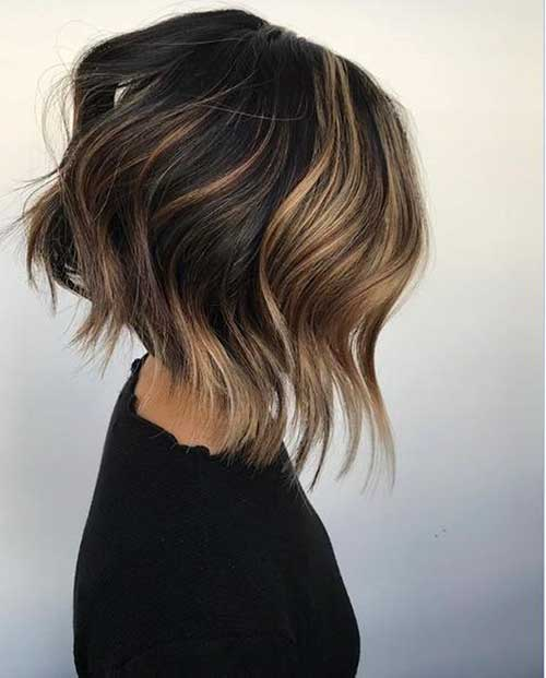 Short Choppy Layered Bob