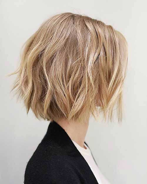 Blunt Short Choppy Layered Hair-9