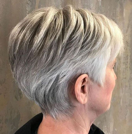 Ash Blonde Pixie Hair