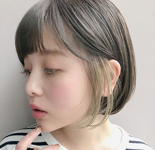 Asian Hairstyles for Short Hair with Bangs-16