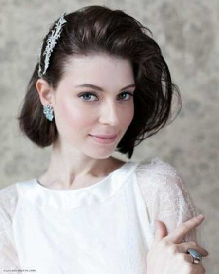 20 Short Hairstyles for Brides_4