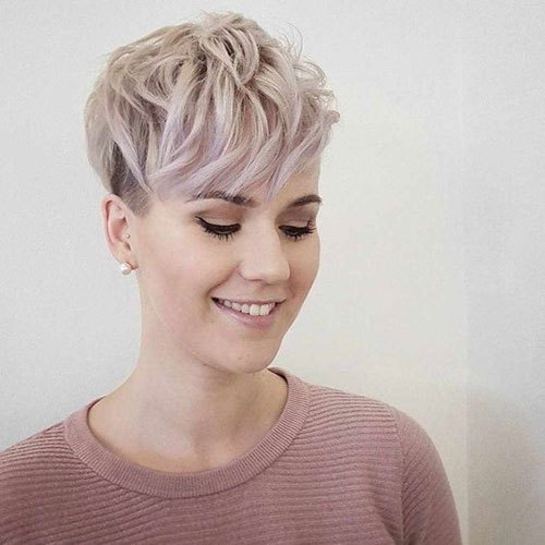Short Blonde Pixie Bangs Hairstyles for Fine Thin Hair-14