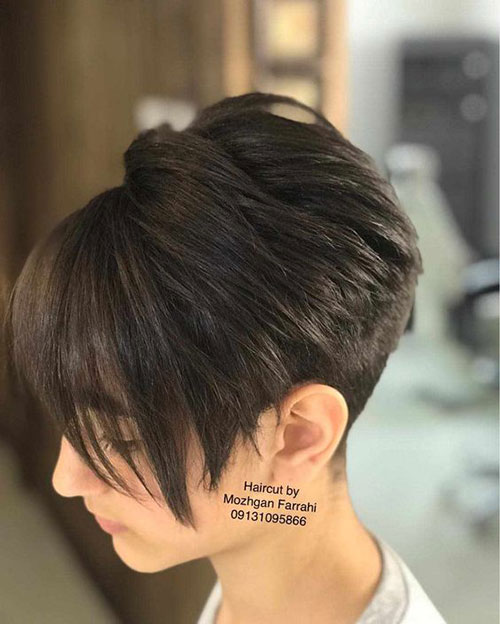 Short Pixie Bob Haircuts for Women with Thick Hair-9