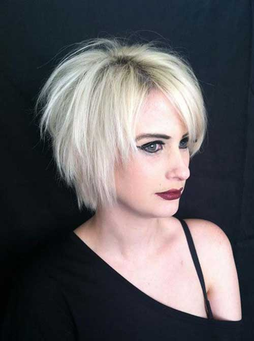 Short Choppy Layered Blonde Hair-10